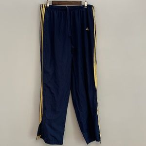 Adidas | Navy & Yellow Retro Track Pants